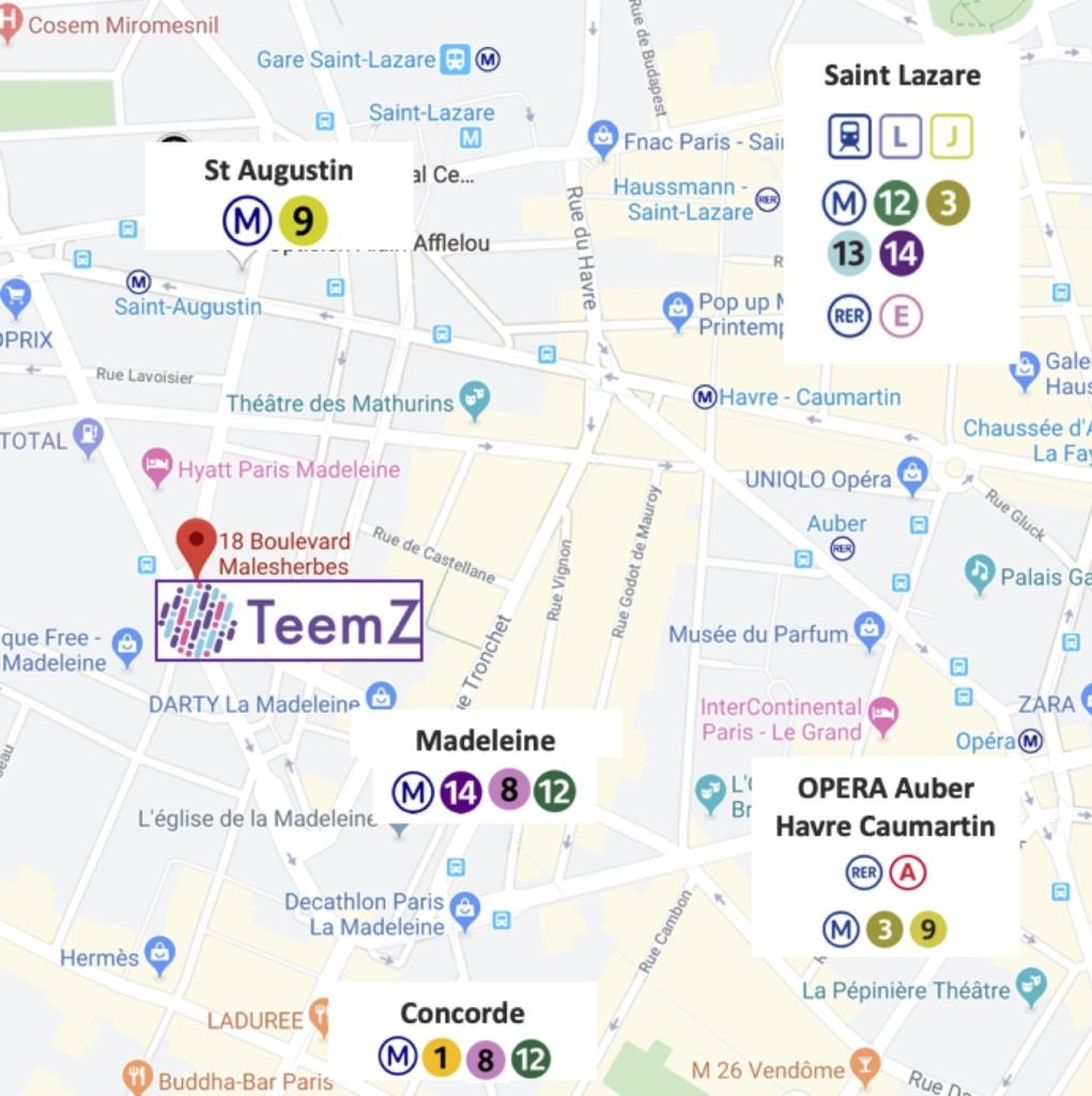 Plan d'accès TeemZ